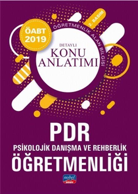 Nobel Yayınları2019 ÖABT PDR Psikolojik Danışma ve Rehberlik Öğretmenliği Detaylı Konu Anlatımı