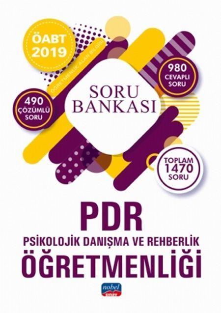 Nobel Yayınları2019 ÖABT PDR Psikolojik Danışma ve Rehberlik Öğretmenliği Soru Bankası