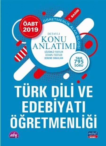 Nobel Yayınları2019 ÖABT Türk Dili ve Edebiyatı Öğretmenlik Alan Bilgisi Detaylı Konu Anlatımı
