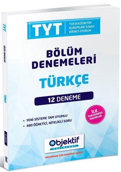 Objektif Yayınları TYT Türkçe 12 li Bölüm Denemeleri