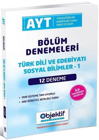 Objektif Yayınları AYT Türk Dili ve Edebiyatı Sosyal Bilimler 2 12 li Bölüm Denemeleri