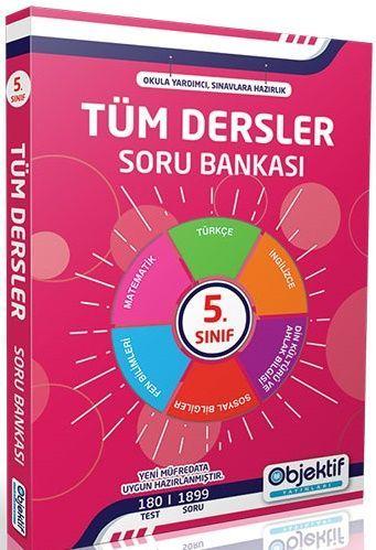 Objektif Yayınları 5. Sınıf Tüm Dersler Soru Bankası