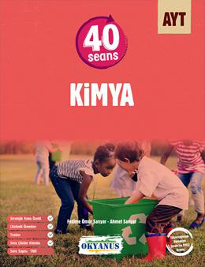 Okyanus Yayınları AYT 40 Seans Kimya Soru Bankası