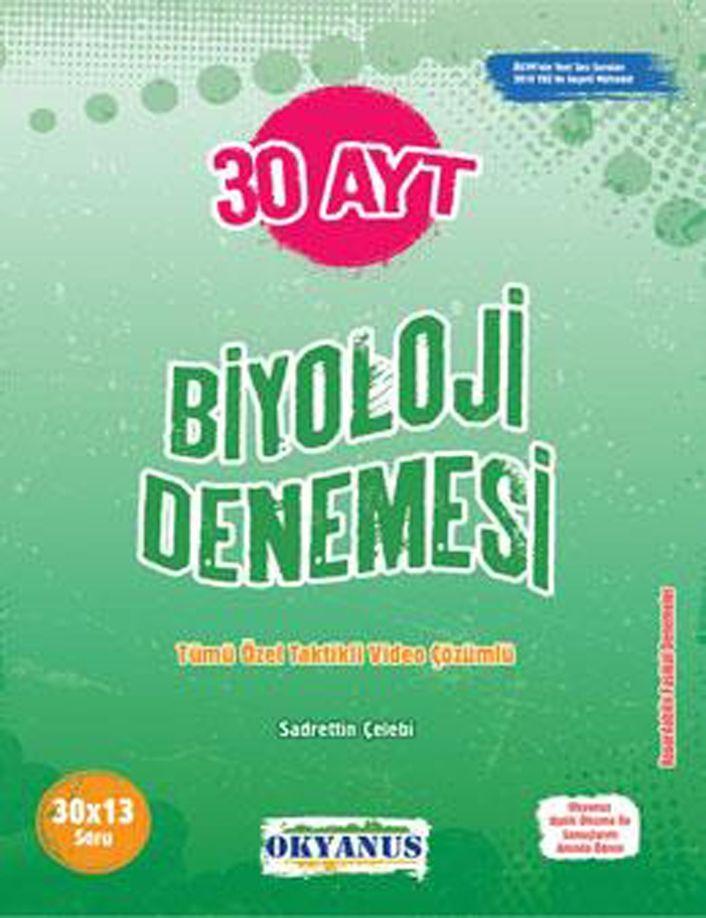 Okyanus Yayınları AYT Biyoloji 30 Denemesi