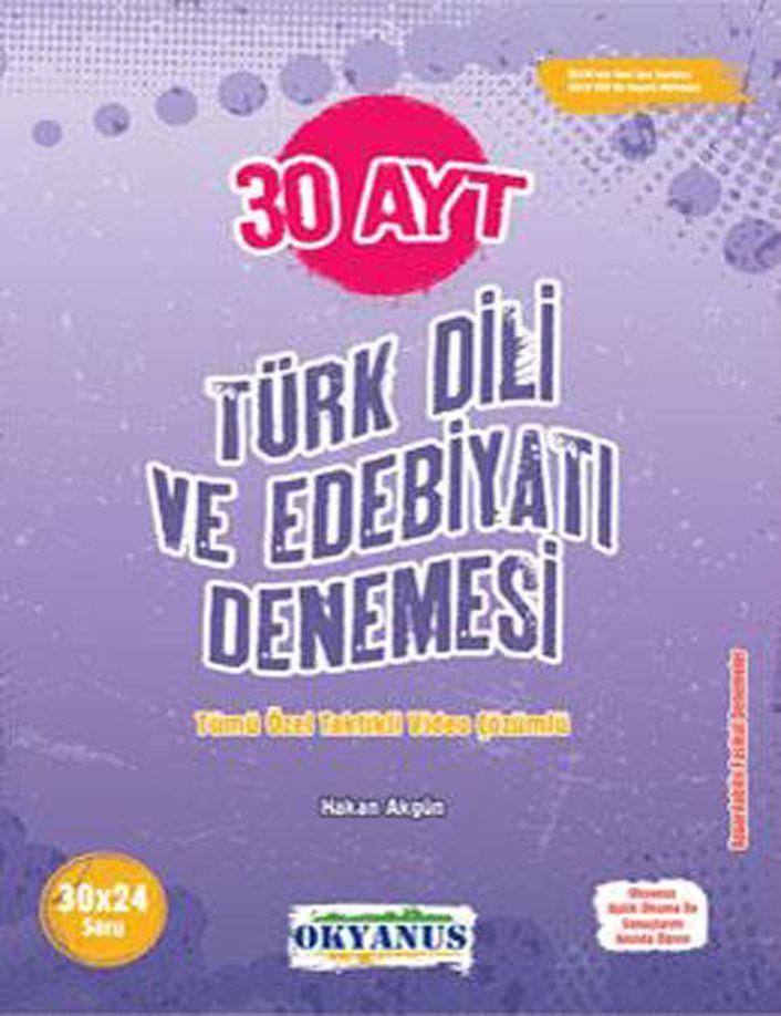Okyanus Yayınları AYT Türk Dili ve Edebiyatı 30 Denemesi