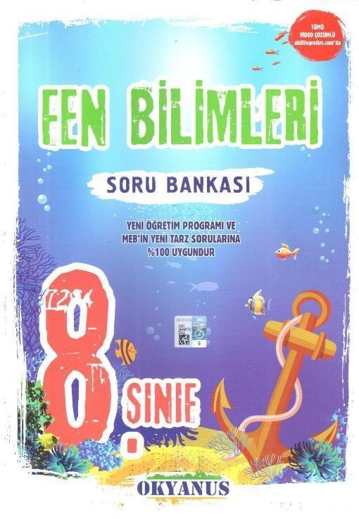Okyanus Yayınları 8. Sınıf Fen Bilimleri Soru Bankası