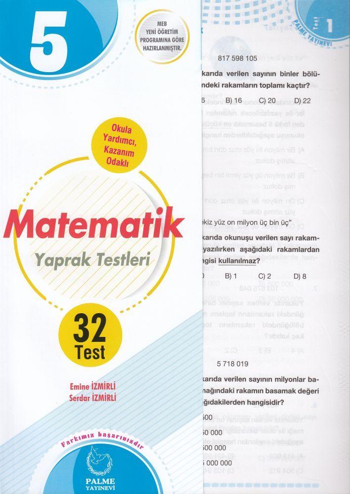 Palme Yayınları 5. Sınıf Matematik Yaprak Test
