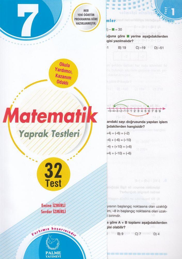 Palme Yayınları 7. Sınıf Matematik Yaprak Test