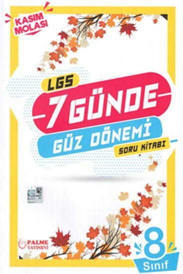 Palme Yayınları 8. Sınıf LGS 7 Günde Güz Dönemi Soru Kitabı