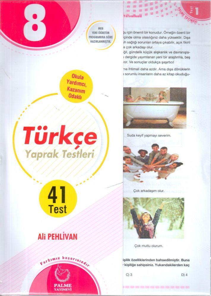 Palme Yayınları 8. Sınıf Türkçe Yaprak Testleri