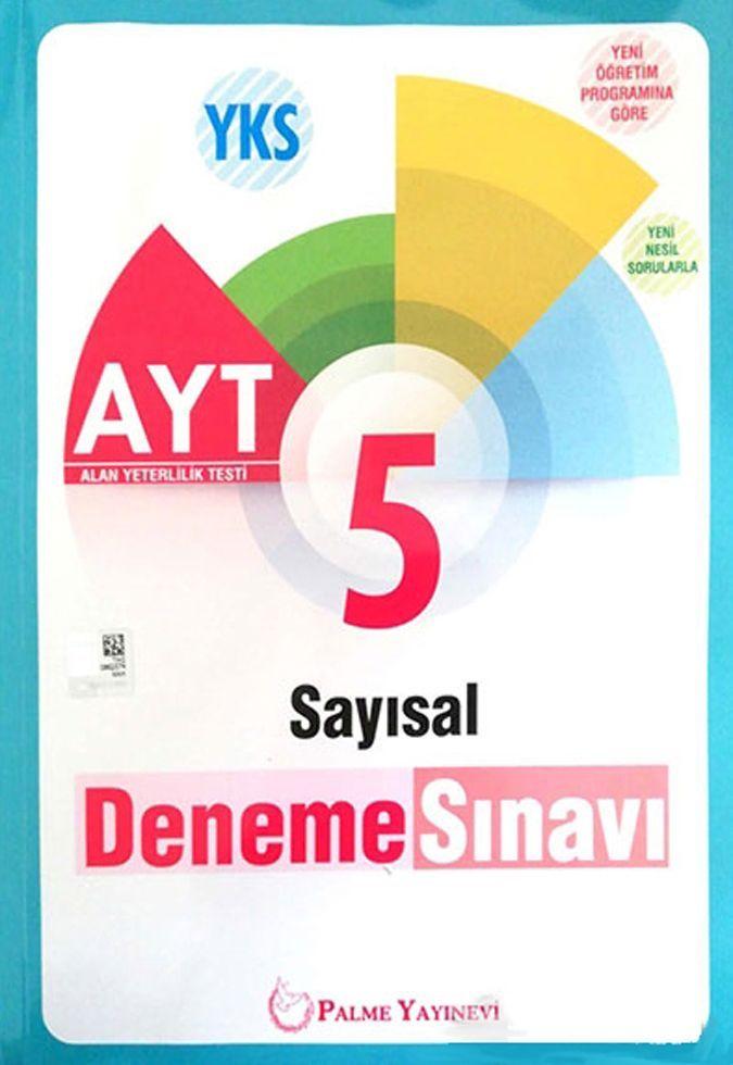 Palme Yayınları AYT Sayısal 5 Deneme Sınavı
