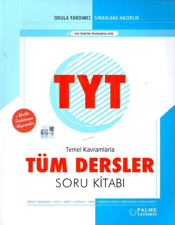 Palme Yayınları TYT Tüm Dersler Temel Kavramlarla Soru Kitabı