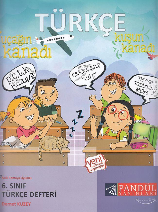 Pandül Yayınları 6. Sınıf Türkçe Defteri