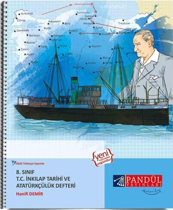 Pandül Yayınları 8. Sınıf T. C. İnkılap Tarihi ve Atatürkçülük Defteri