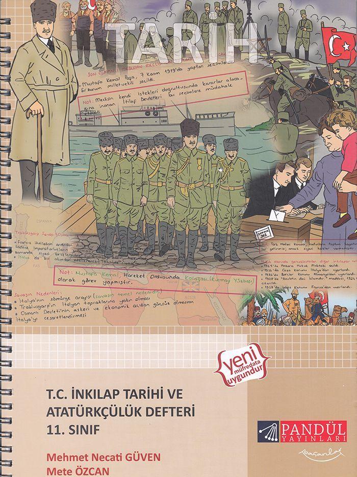 Pandül Yayınları 11. Sınıf T. C. İnkılap Tarihi ve Atatürkçülük Defteri