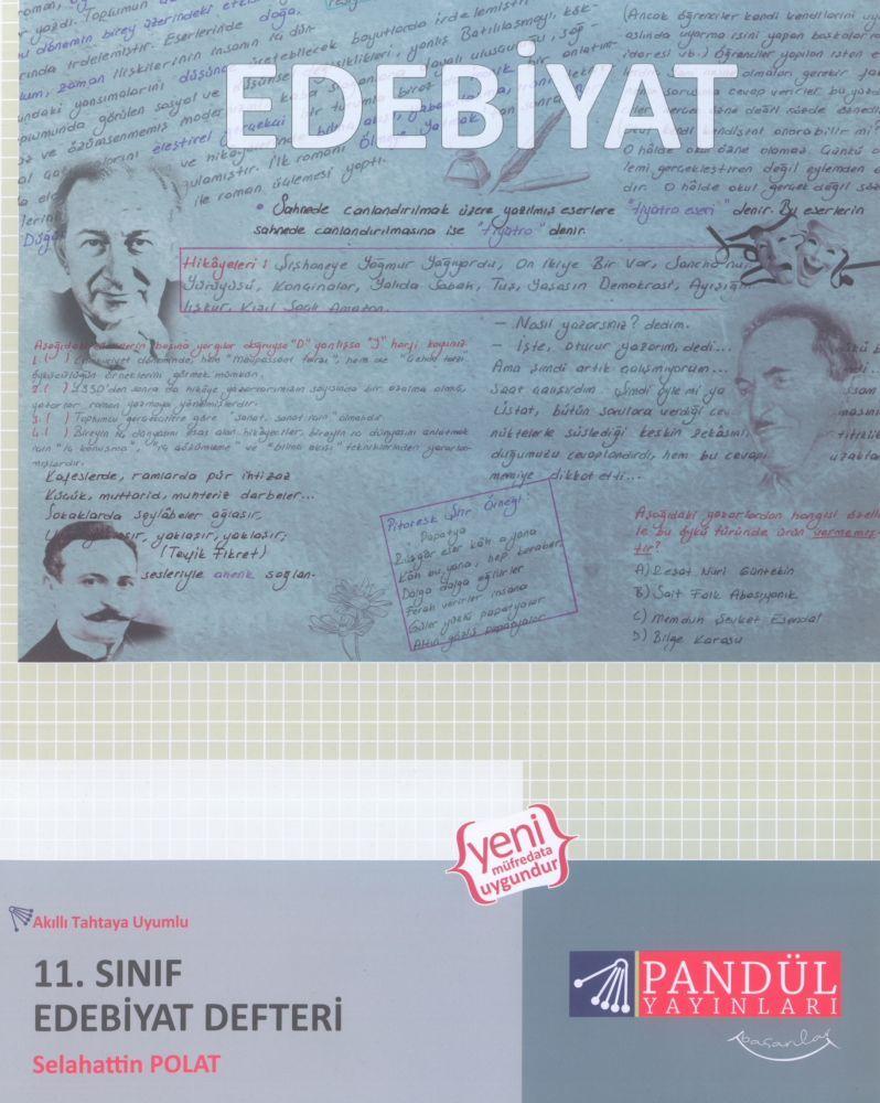 Pandül Yayınları 11. Sınıf Edebiyat Defteri