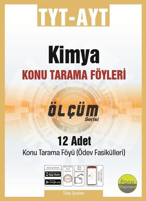 Pano Yayınları TYT AYT Kimya Konu Tarama Föyleri Ölçüm Serisi 12 Fasikül