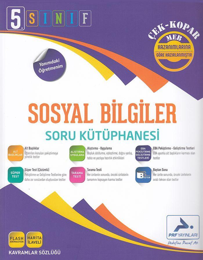 Paraf Yayınları 5. Sınıf Sosyal Bilgiler Soru Kütüphanesi Çek Kopar