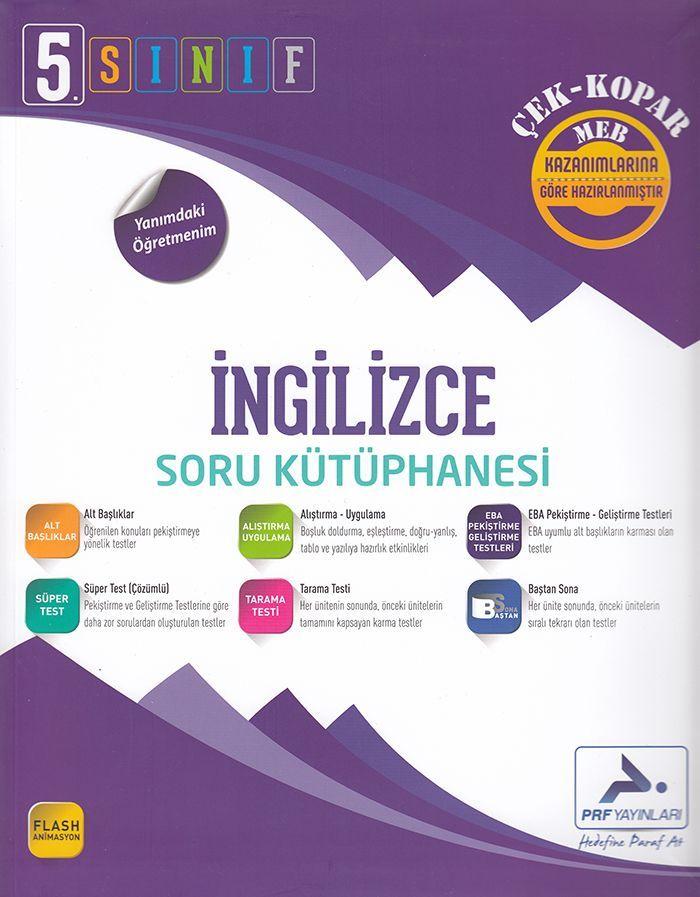 Paraf Yayınları 5. Sınıf İngilizce Soru Kütüphanesi Çek Kopar