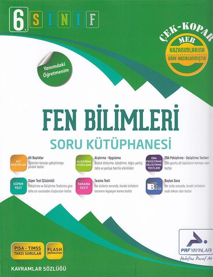 Paraf Yayınları 6. Sınıf Fen Bilimleri Soru Kütüphanesi Çek Kopar