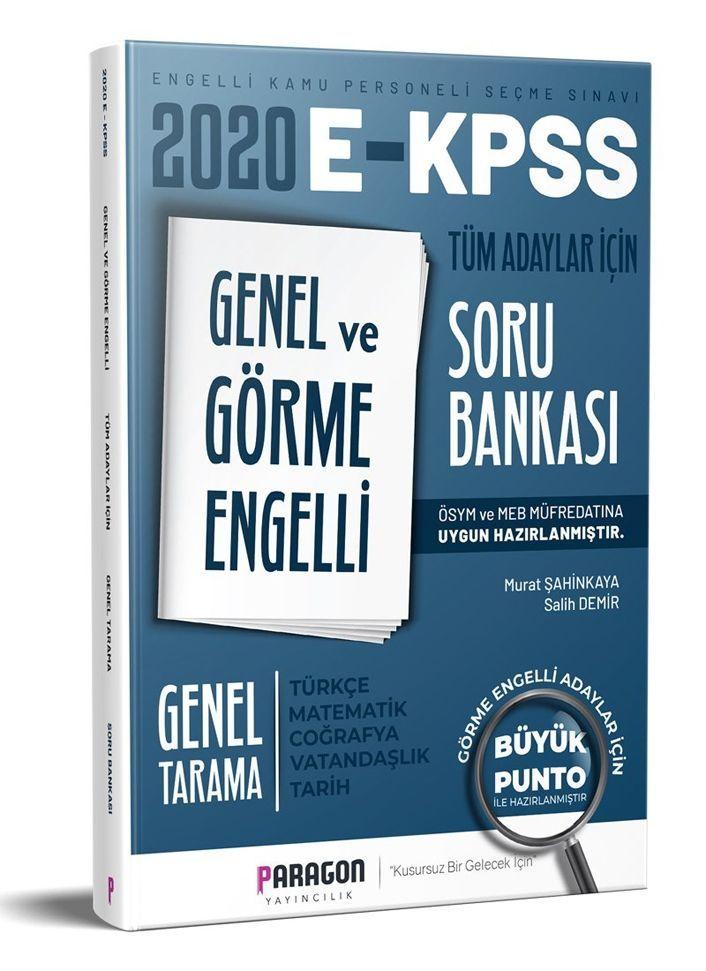 Paragon Yayıncılık  EKPSS Genel ve Görme Engelli Tüm Adaylar İçin Genel Tarama Soru Bankası