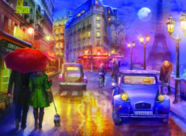 Paris\'de Bir Gece  Paris At Night 1000 Parça Puzzle - Yapboz