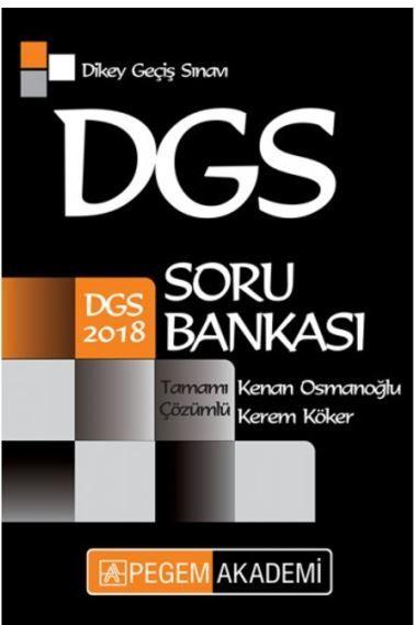 Pegem 2018 DGS Tamamı Çözümlü Soru Bankası