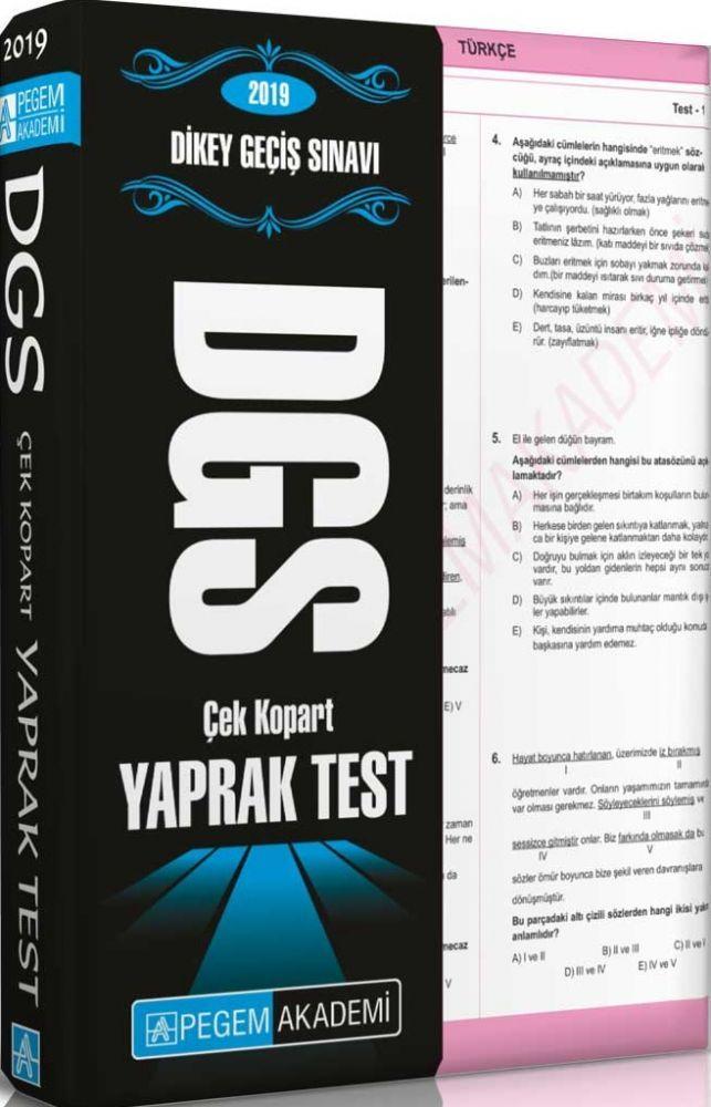 Pegem Akademi 2019 DGS Çek Kopart Yaprak Test