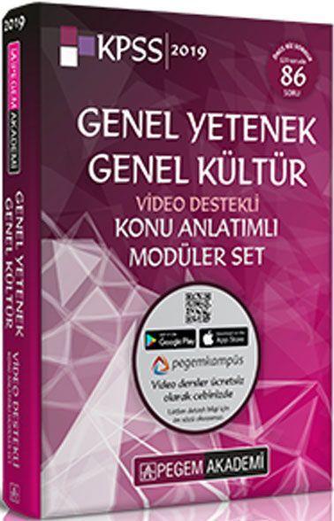 Pegem Akademi 2019 KPSS Genel Yetenek Genel Kültür Video Destekli Konu Anlatımlı Modüler Set 6 Kitap