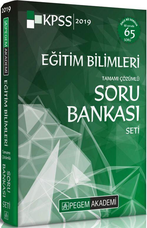 Pegem Akademi 2019 KPSS Eğitim Bilimleri Tamamı Çözümlü Modüler Soru Bankası Seti 6 Kitap