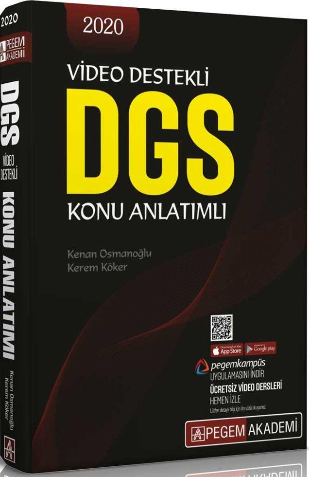 Pegem Yayınları 2020 DGS Video Destekli Konu Anlatımlı