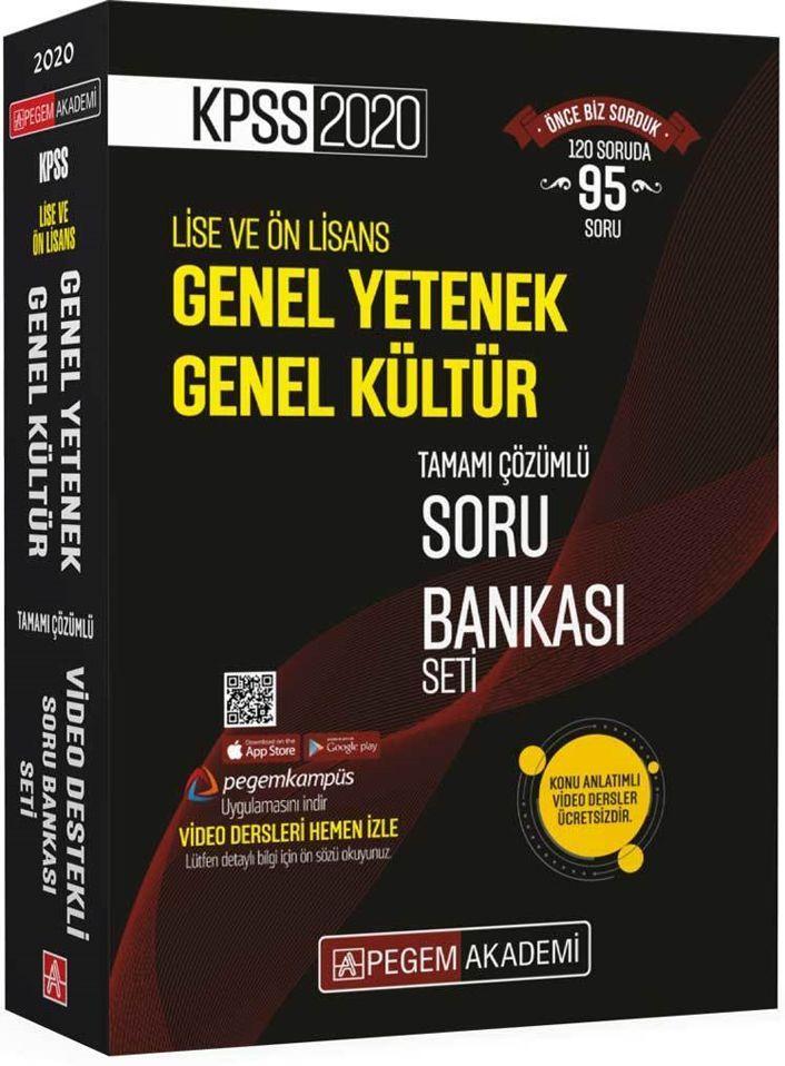 Pegem Yayınları 2020 KPSS Lise Ve Önlisans Soru Bankası Seti