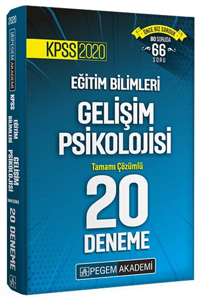 Pegem Yayınları 2020 KPSS Gelişim Psikolojisi Tamamı Çözümlü 20 Deneme