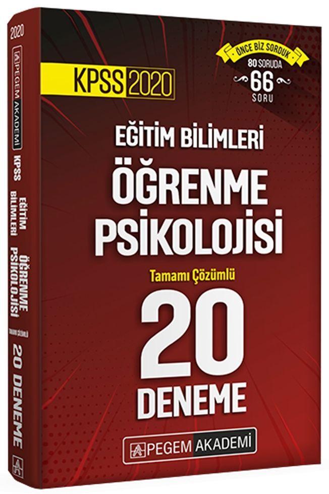 Pegem Yayınları 2020 KPSS Öğrenme Psikolojisi Tamamı Çözümlü 20 Deneme