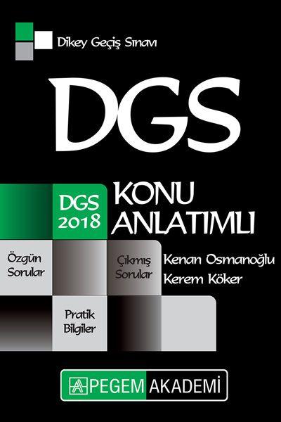 Pegem Yayınları 2018 DGS Konu Anlatımlı