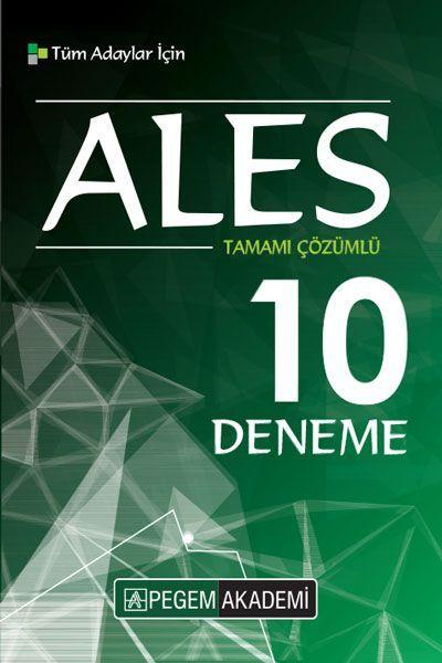 Pegem Yayınları 2019 ALES Tamamı Çözümlü 10 Deneme