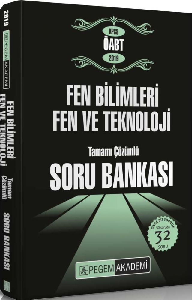 Pegem Yayınları 2019 KPSS ÖABT Fen Bilimleri Fen ve Teknoloji Tamamı Çözümlü Soru Bankası Seti