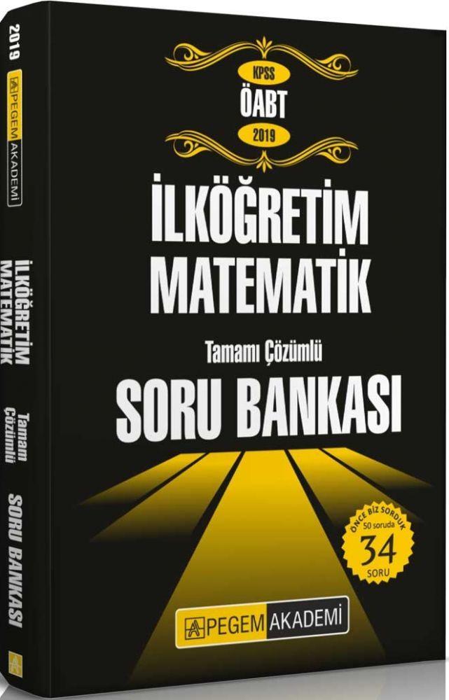 Pegem Yayınları 2019 ÖABT İlköğretim Matematik Tamamı Çözümlü Soru Bankası