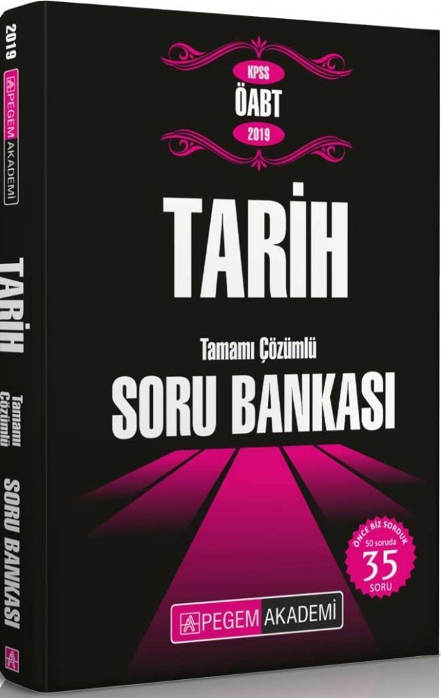 Pegem Yayınları 2019 ÖABT Tarih Tamamı Çözümlü Soru Bankası