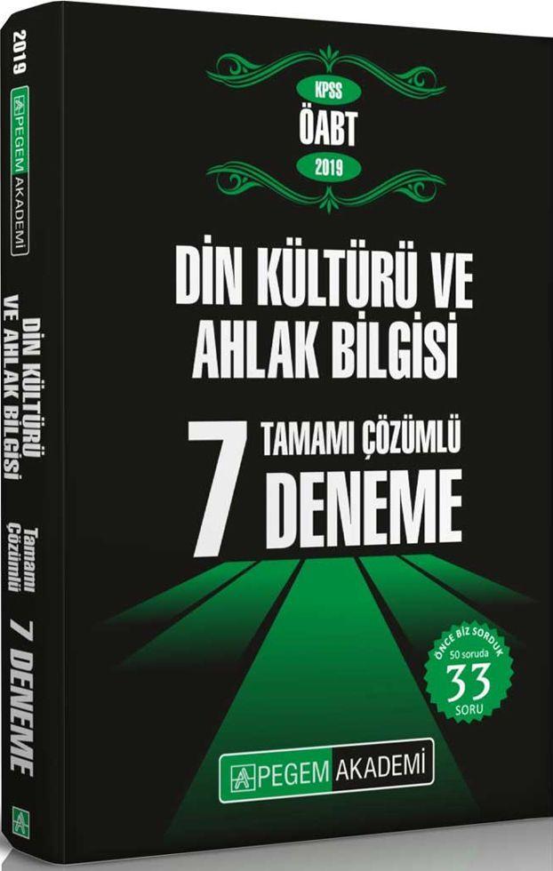 Pegem Yayınları 2019 KPSS ÖABT Din Kültürü ve Ahlak Bilgisi Tamamı Çözümlü 7 Deneme