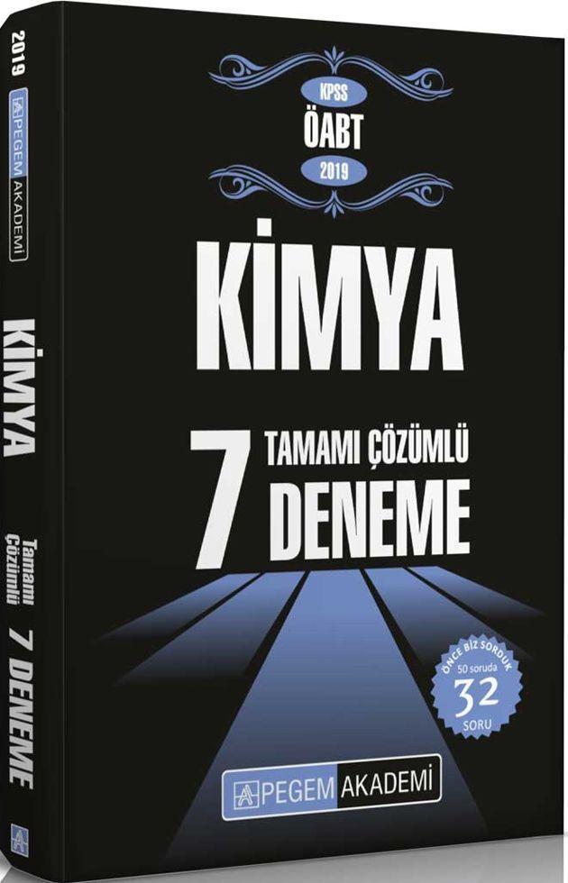 Pegem Yayınları 2019 KPSS ÖABT Kimya Tamamı Çözümlü 7 Deneme