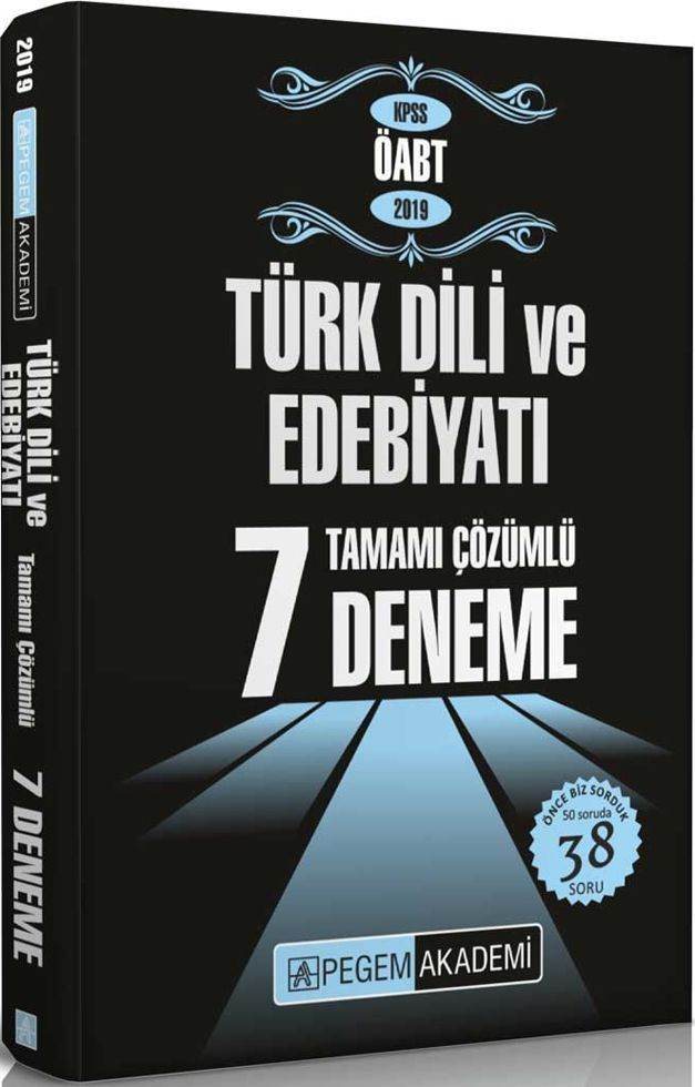 Pegem Yayınları 2019 KPSS ÖABT Türk Dili ve Edebiyatı Tamamı Çözümlü 7 Deneme