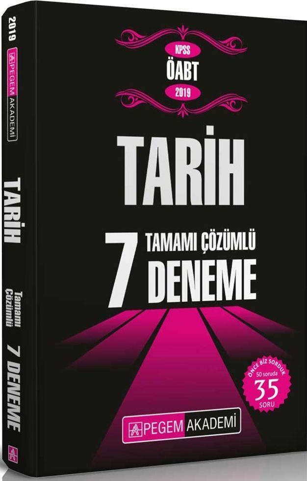 Pegem Yayınları 2019 KPSS ÖABT Tarih Tamamı Çözümlü 7 Deneme