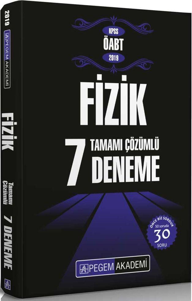 Pegem Yayınları 2019 KPSS ÖABT Fizik Tamamı Çözümlü 7 Deneme