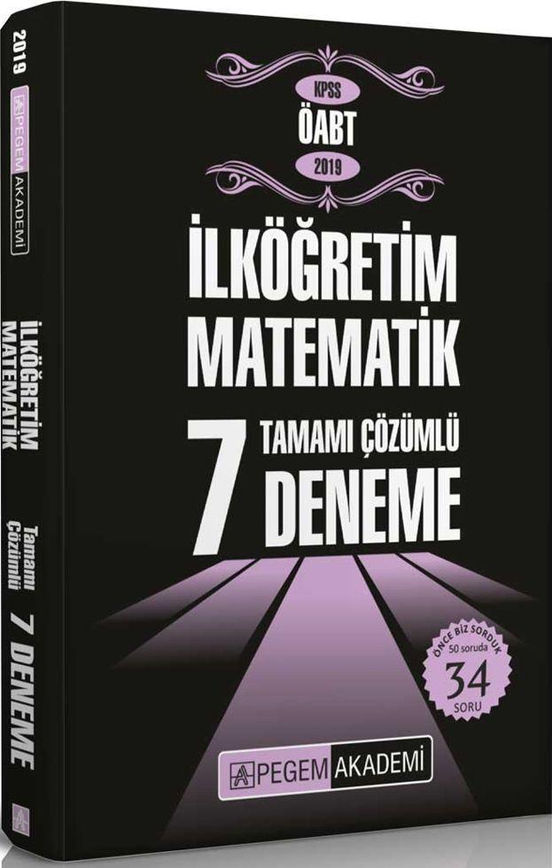 Pegem Yayınları 2019 KPSS ÖABT İlköğretim Matematik Tamamı Çözümlü 7 Deneme