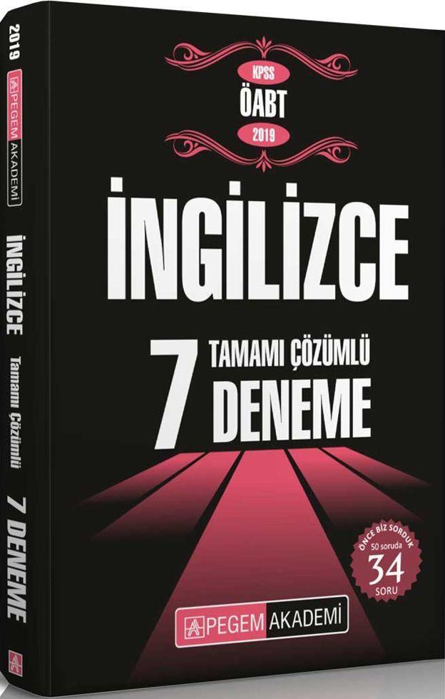 Pegem Yayınları 2019 KPSS ÖABT İngilizce Tamamı Çözümlü 7 Deneme