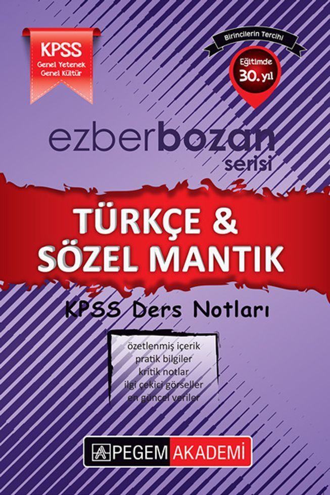 Pegem Yayınları KPSS Türkçe Sözel Mantık Ders Notları