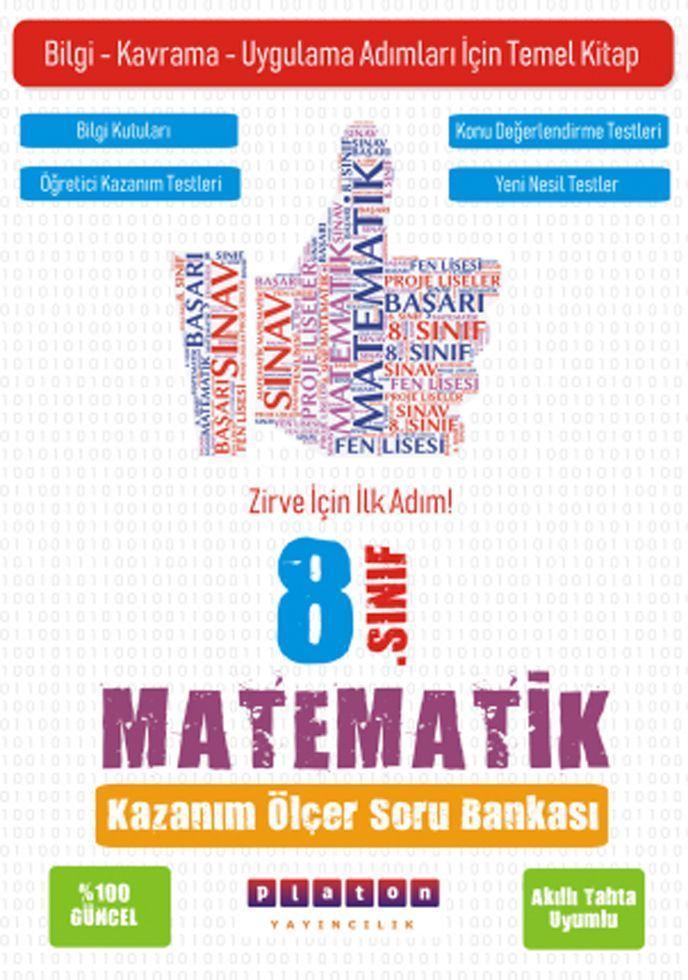Platon Yayıncılık 8. Sınıf Matematik Kazanım Ölçer Soru Bankası