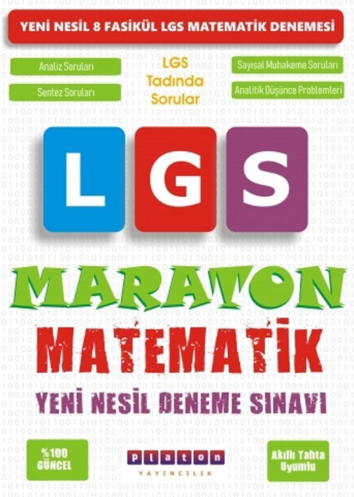 Platon Yayıncılık LGS Matematik Maraton Yeni Nesil Deneme Sınavı