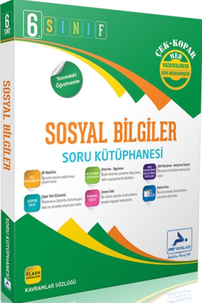 PRF Yayınları 6. Sınıf Sosyal Bilgiler Soru Kütüphanesi